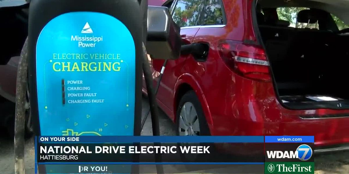 Electric, hybrid cars displayed in Hattiesburg for National Drive Electric Week