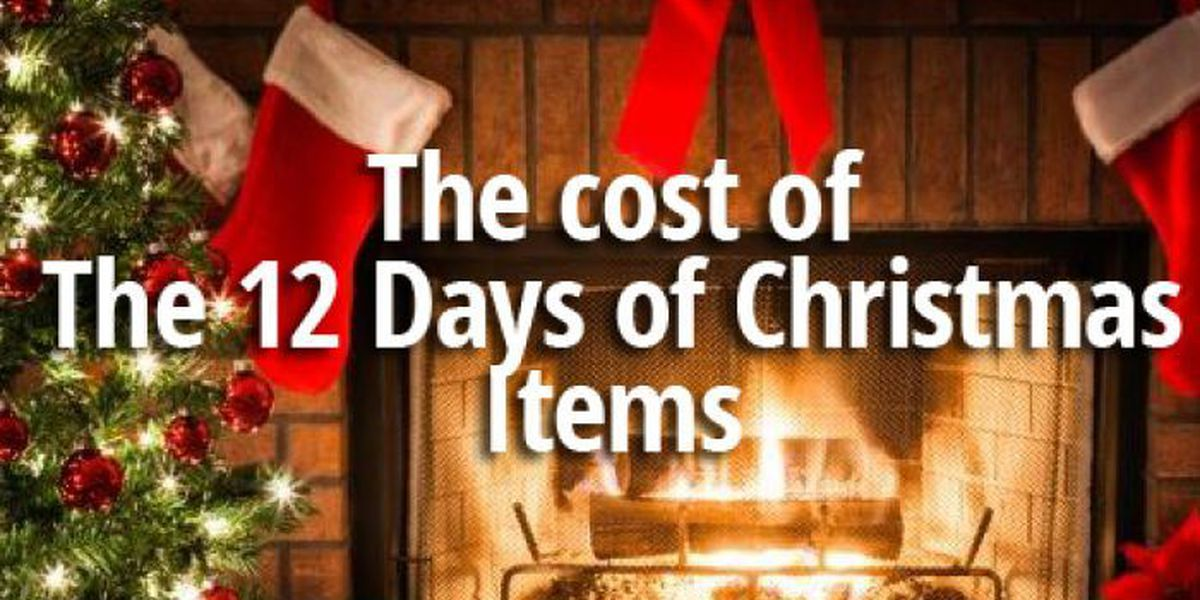 SLIDESHOW: The cost of the 12 Days of Christmas items