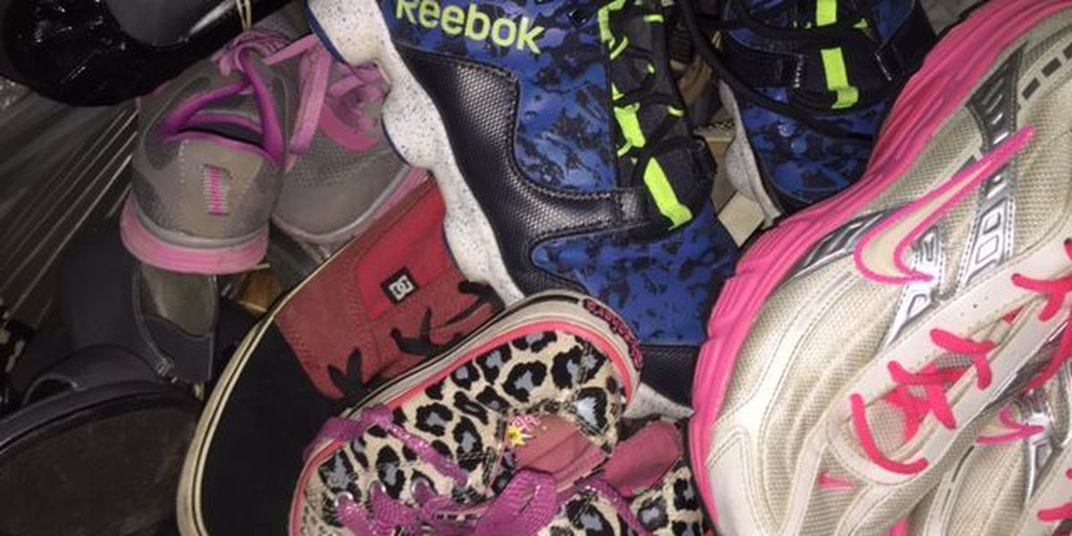 Shoe donations to aid Glade Elementary in building new playground pavilion
