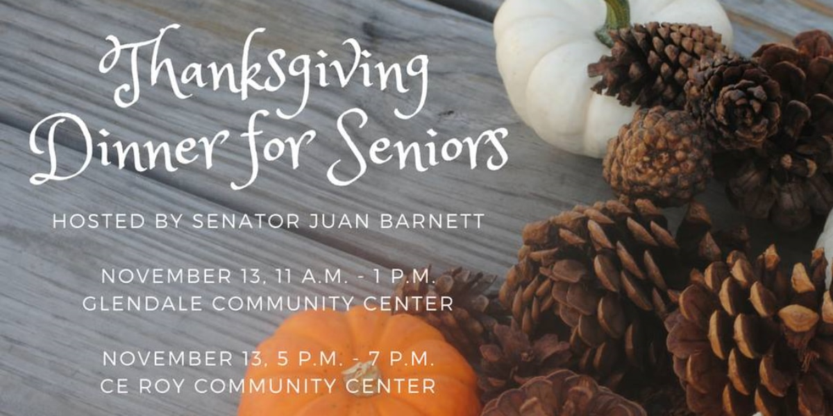 Happening today: Free Thanksgiving social for senior citizens in Hattiesburg