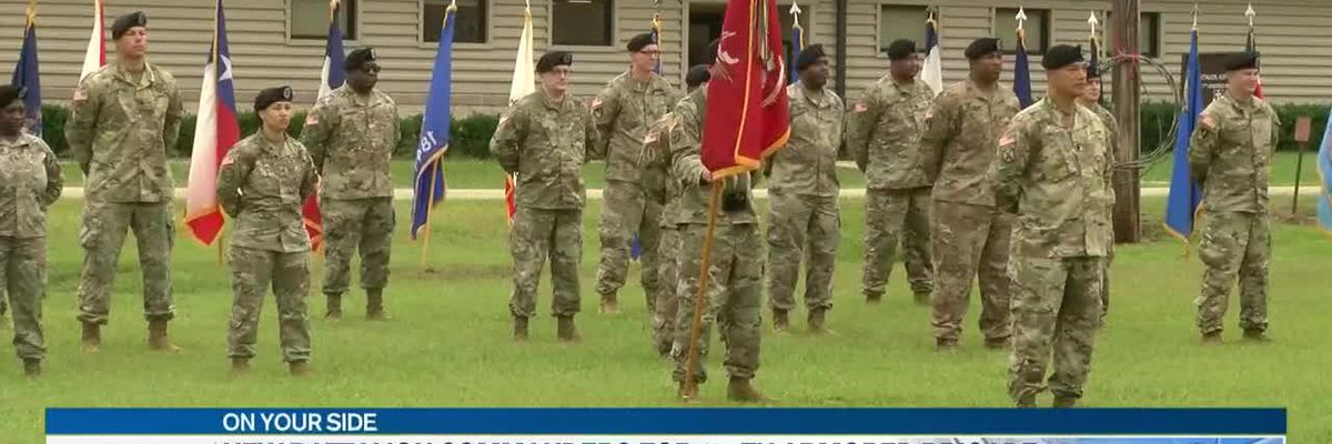 Camp Shelby training unit hosts two change of command ceremonies