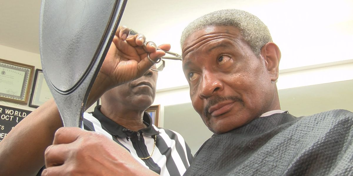 7 On the Road: Laurel barbershop 'lines' the community out