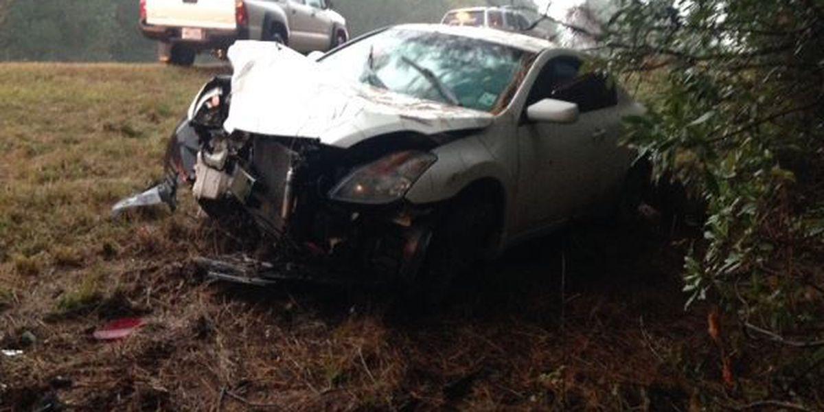 Louisiana woman injured in Jones County crash