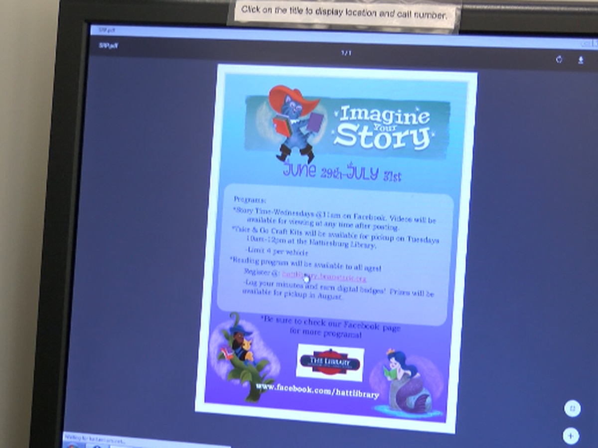 Library of Hattiesburg, Petal and Forrest Co. offers virtual summer program for children