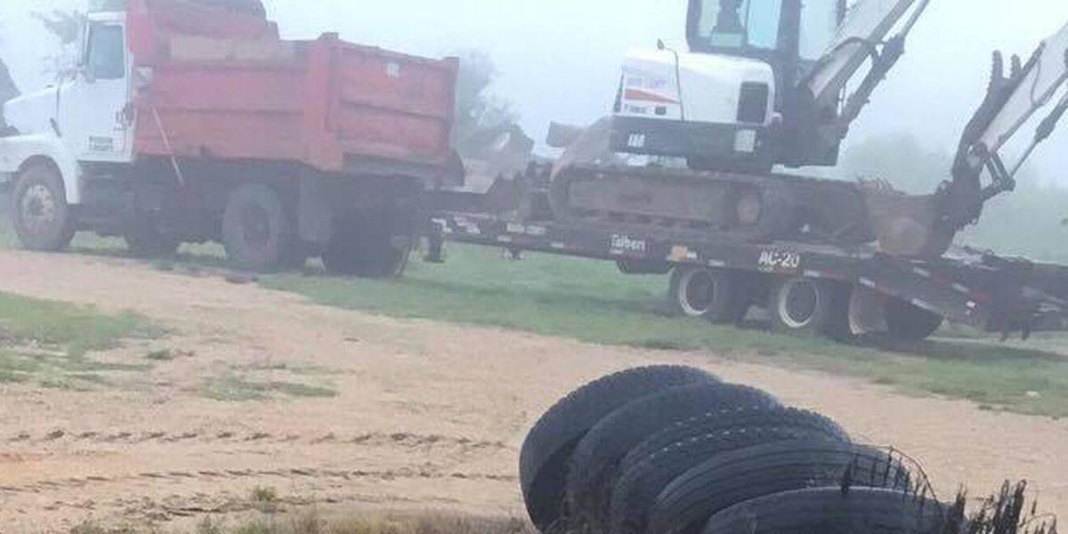Marion County dump truck, tractor, trailer stolen