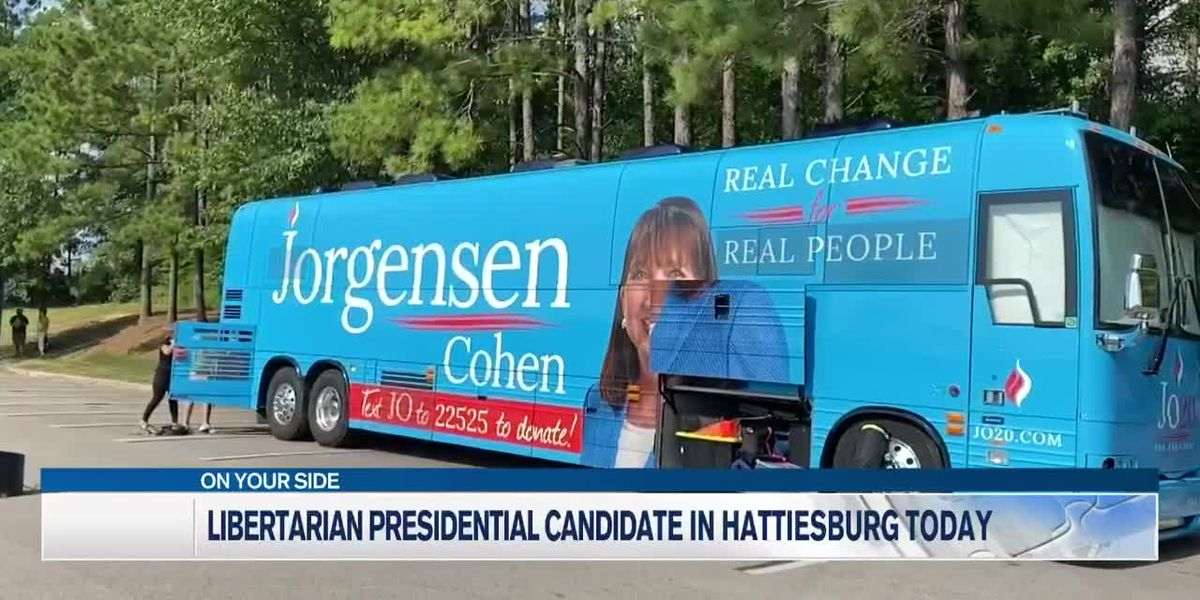 Presidential candidate Jo Jorgensen coming through MS this weekend