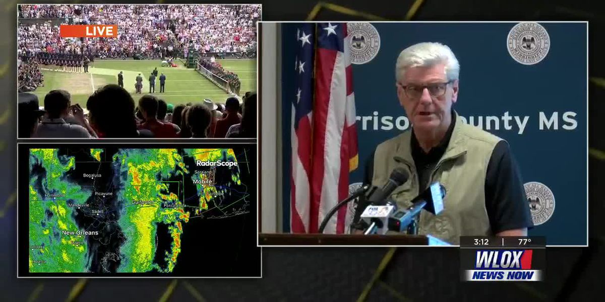 Gov. Bryant briefs officials on latest from Tropical Storm Barry