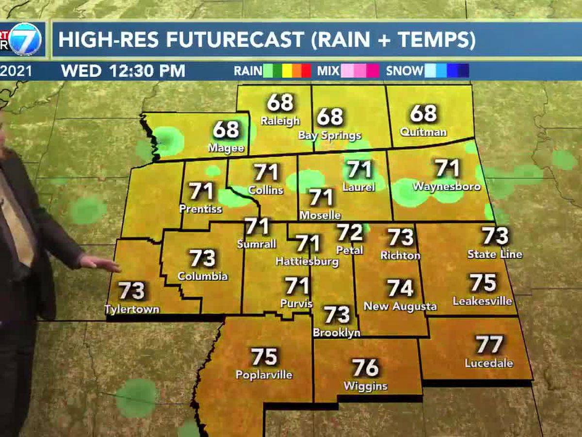 Chance for showers, thunderstorms Wednesday