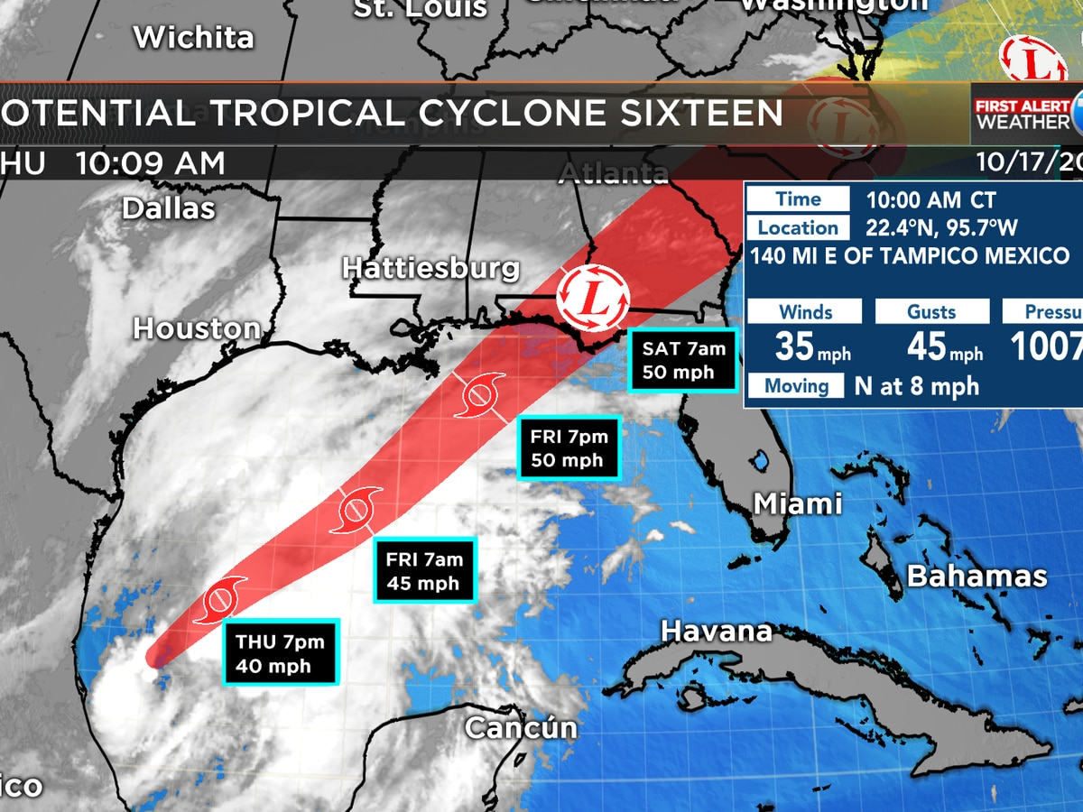 First Alert: Potential tropical storm forms in Gulf of Mexico