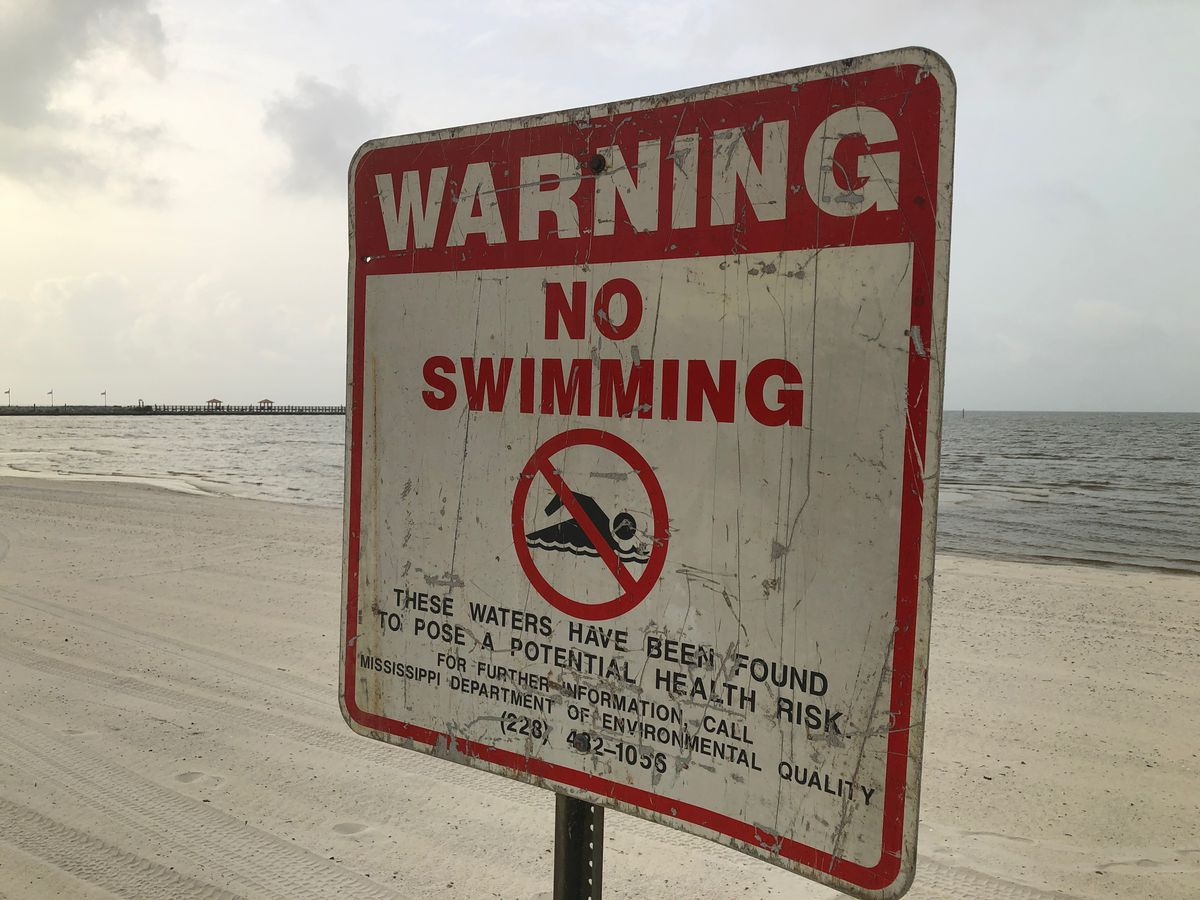 More signs go up along Mississippi beaches warning of dangerous toxic conditions