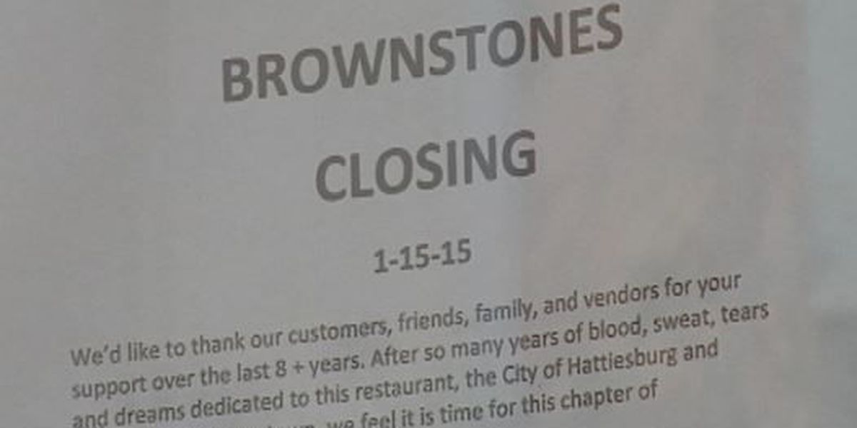 Brownstone's in Downtown Hattiesburg closes