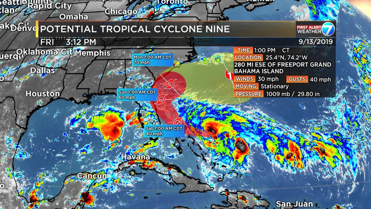 First Alert: Tropical Depression Nine forecast to avoid Gulf