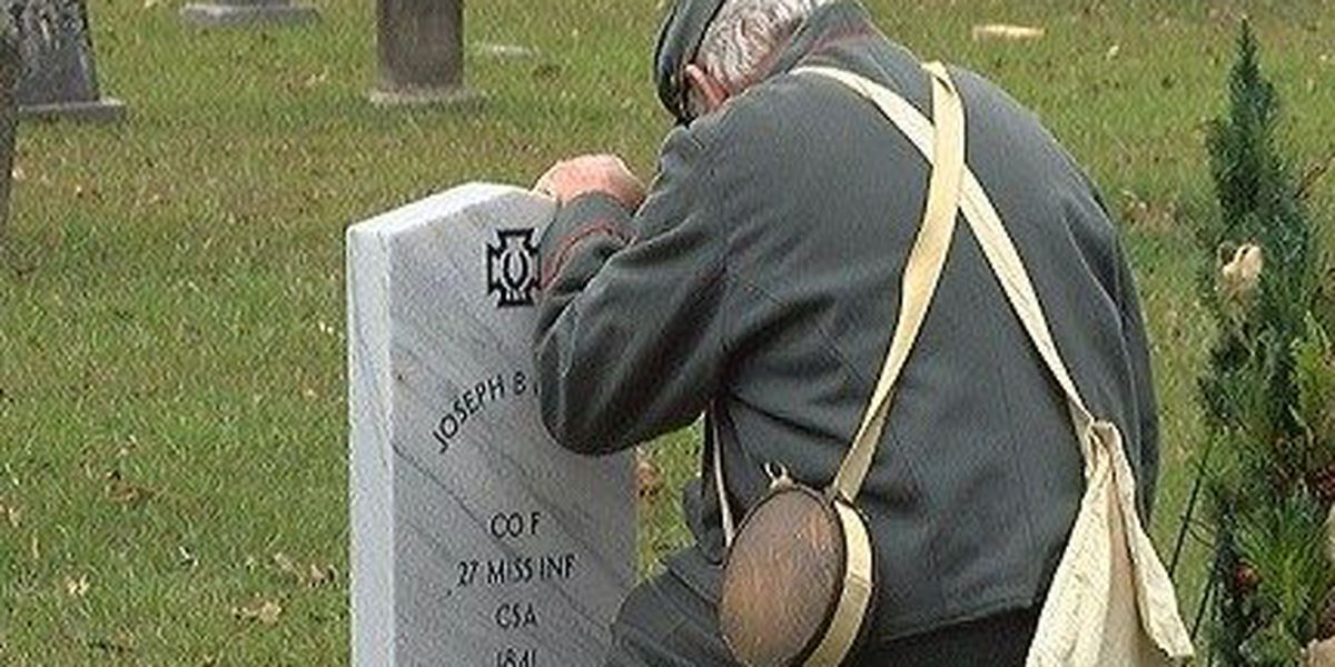 Covington Confederate soldier gets grave marker 123 years after death