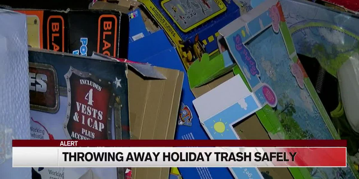 Don't let holiday trash make you a target for burglars
