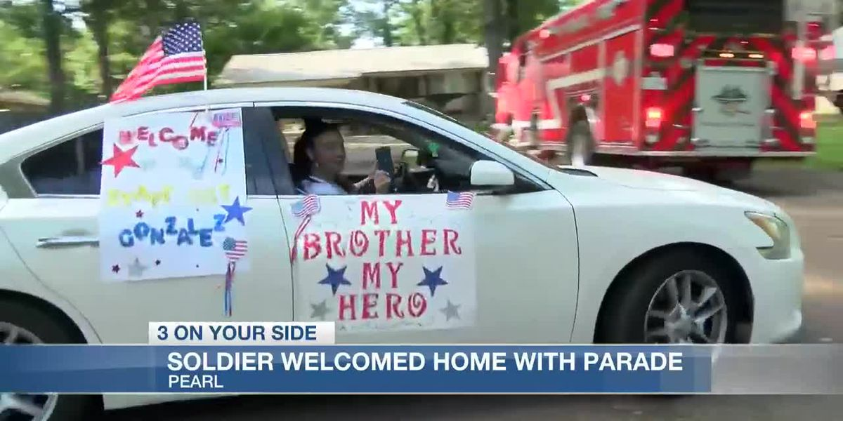 Soldier welcomed home with surprise parade after year in Baghdad