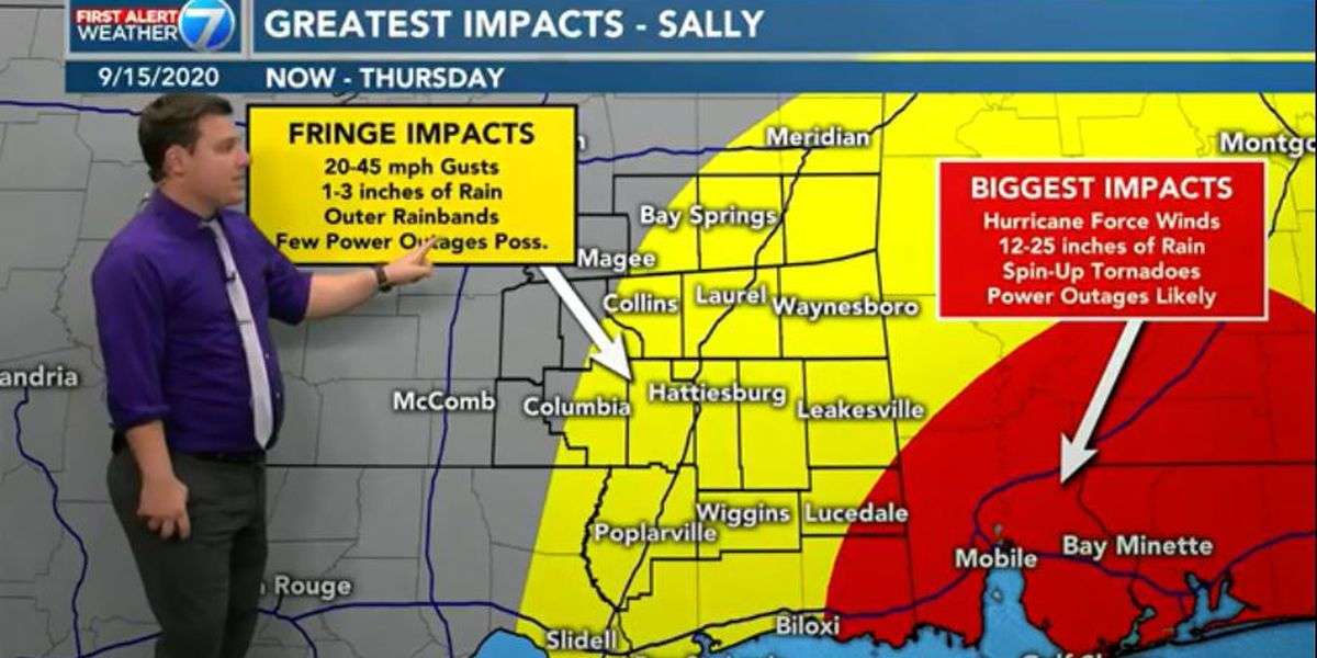 First Alert: Hurricane Sally continues to track east