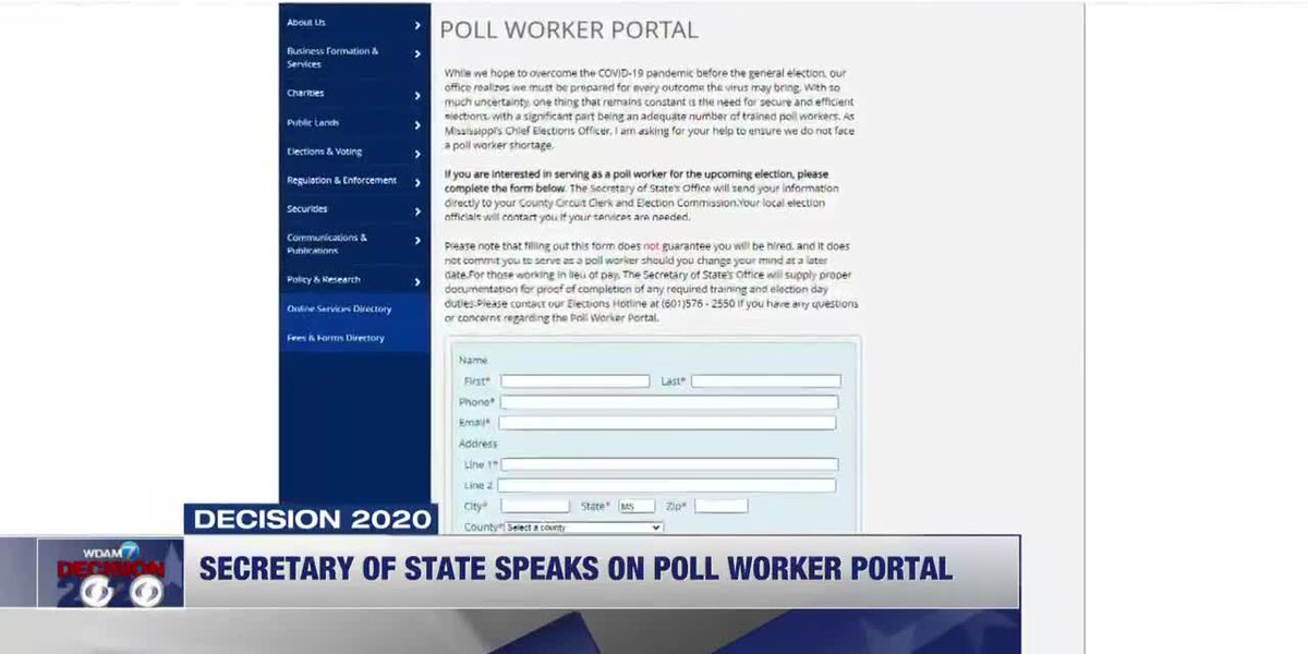 Secretary of State speaks on finding poll workers for elections - clipped version