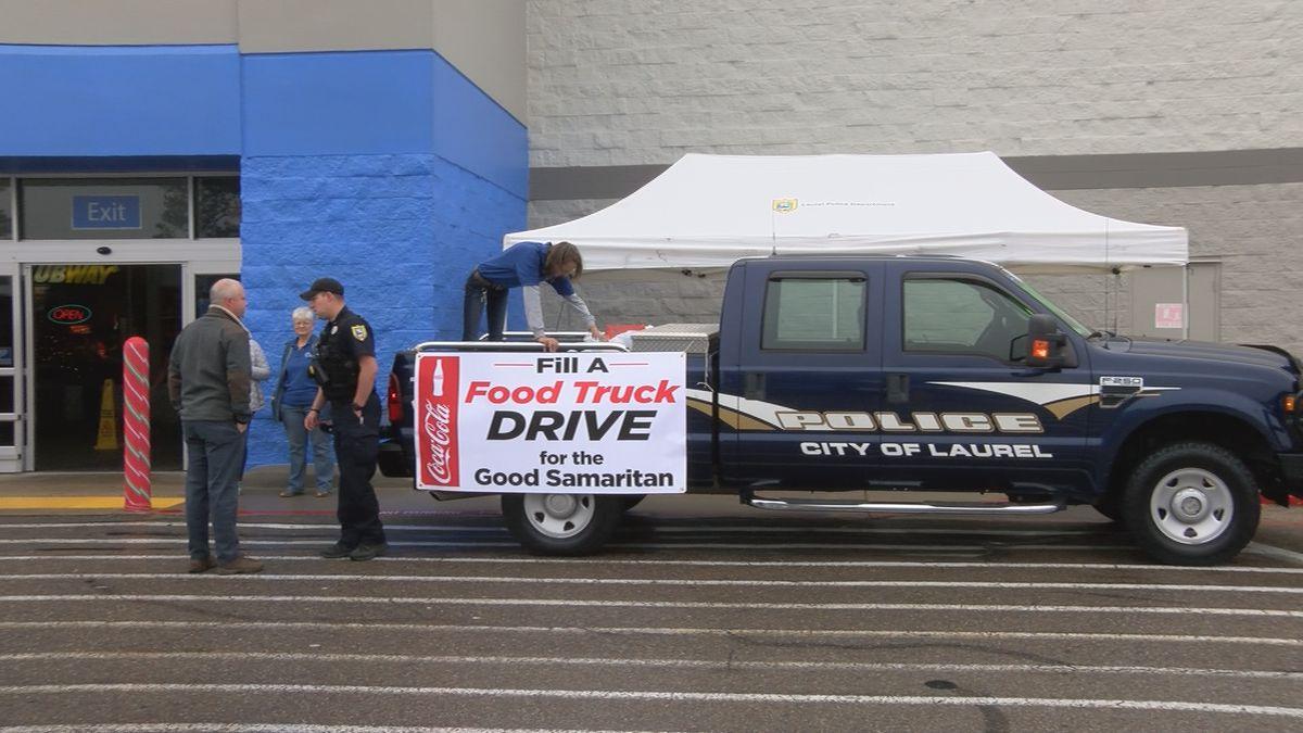 "Laurel PD and Good Samaritan work to ""Stuff a Truck"