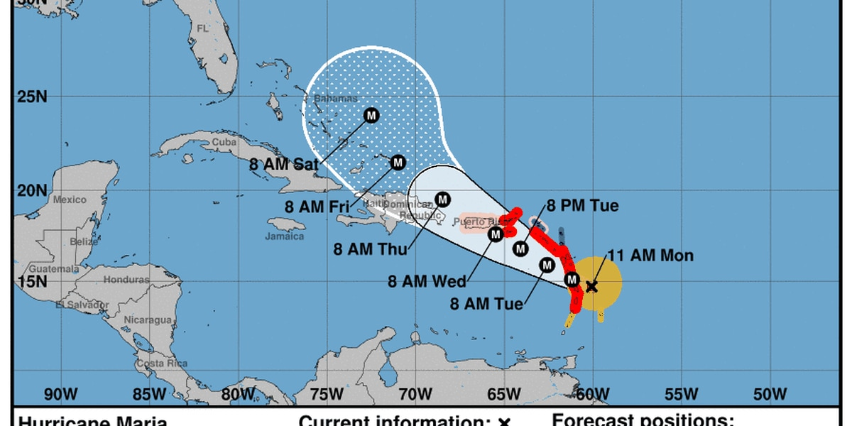 Hurricane Maria strengthens to catergory 3