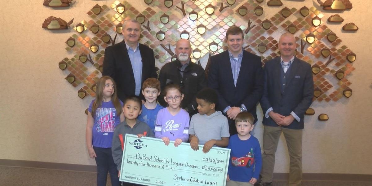 Sertoma Club donates check to DuBard School