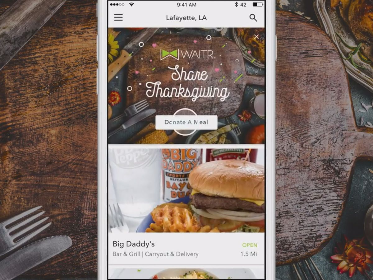 "Waitr teams up with local restaurants to launch ""Share Thanksgiving"" campaign"