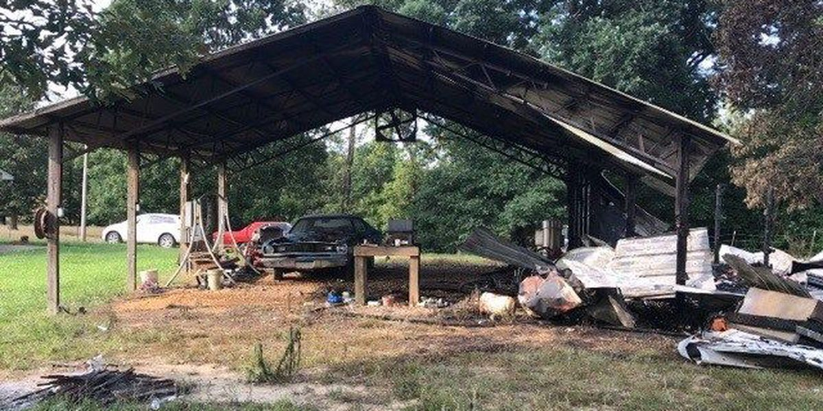 Firefighters battle shed fire in Covington County