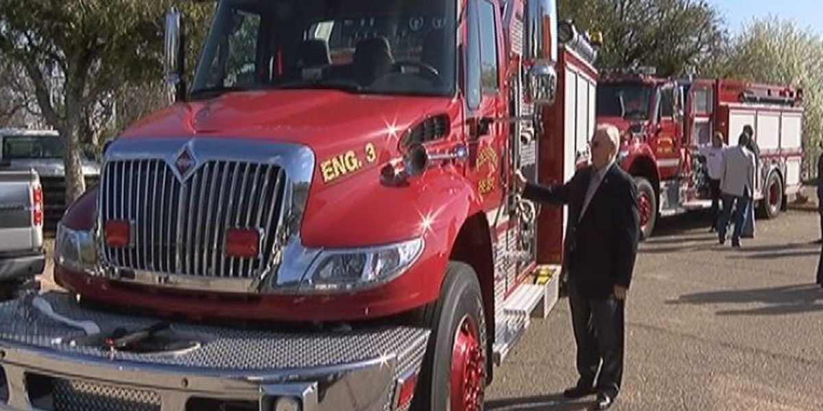 Two Forrest County volunteer fire departments receive new fire trucks
