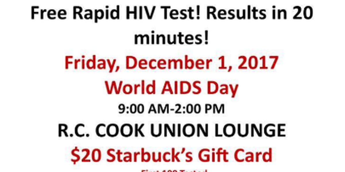 World AIDS Day free HIV testing at USM