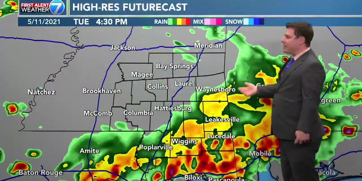 Rain and thunderstorms likely Tuesday afternoon