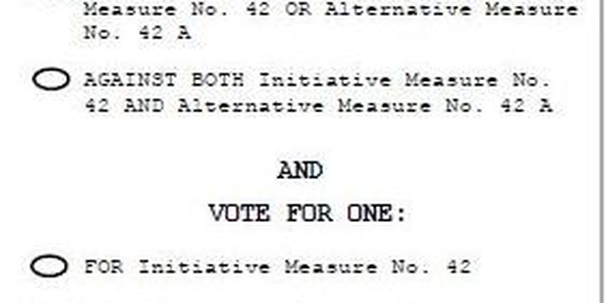 Initiative 42 fails to pass