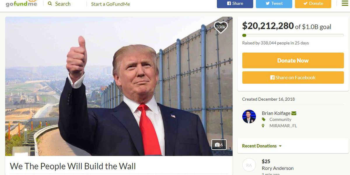 GoFundMe refunding $20 million raised for border wall as campaign founder announces new wall group