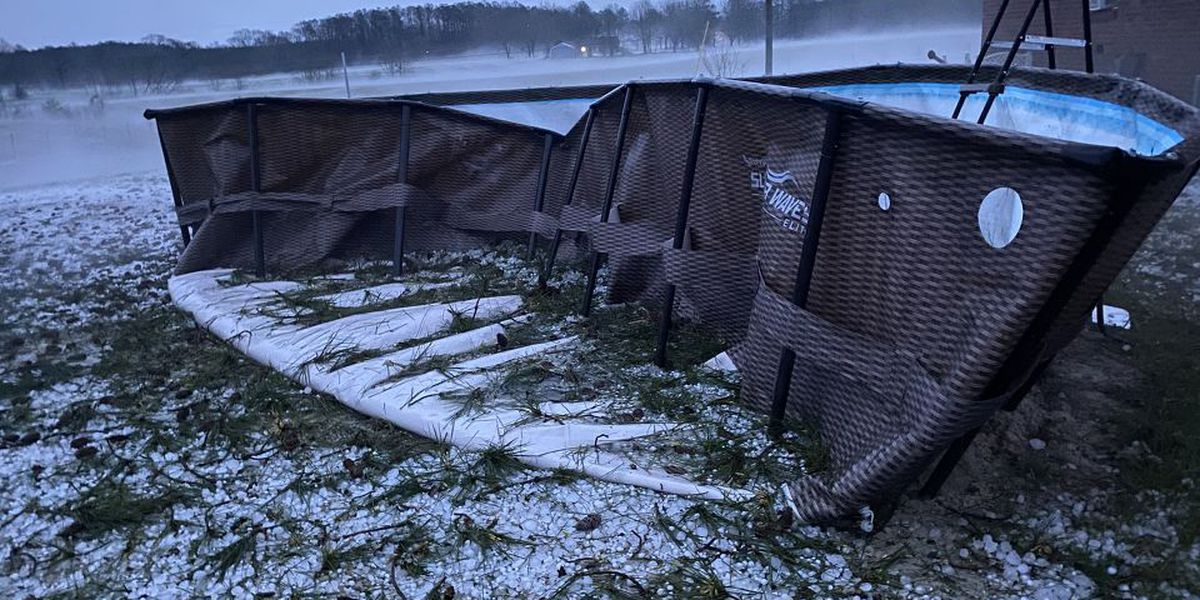 PHOTOS: Overnight hail storm causes damage in the Pine Belt