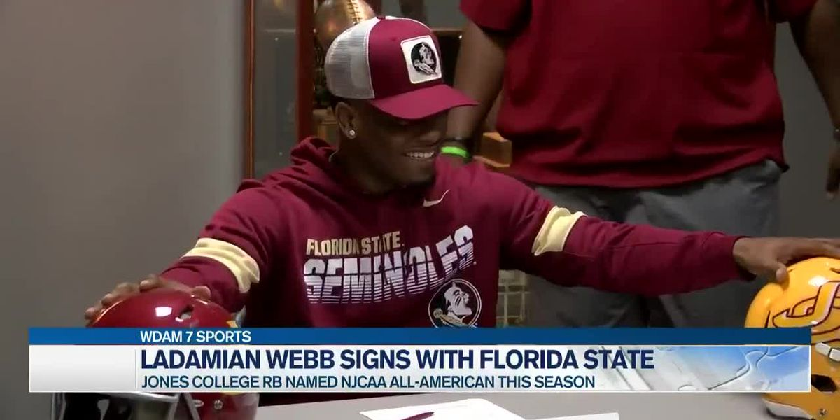 Jones running back Ladamian Webb inks with FSU