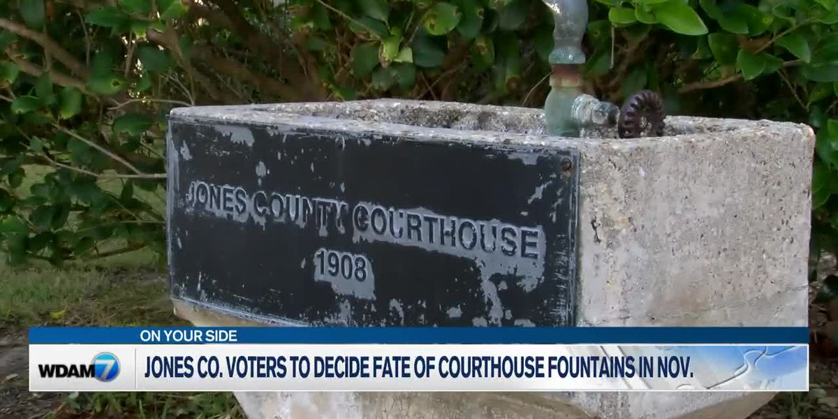 Jones Co. voters to decide fate of courthouse fountains in November