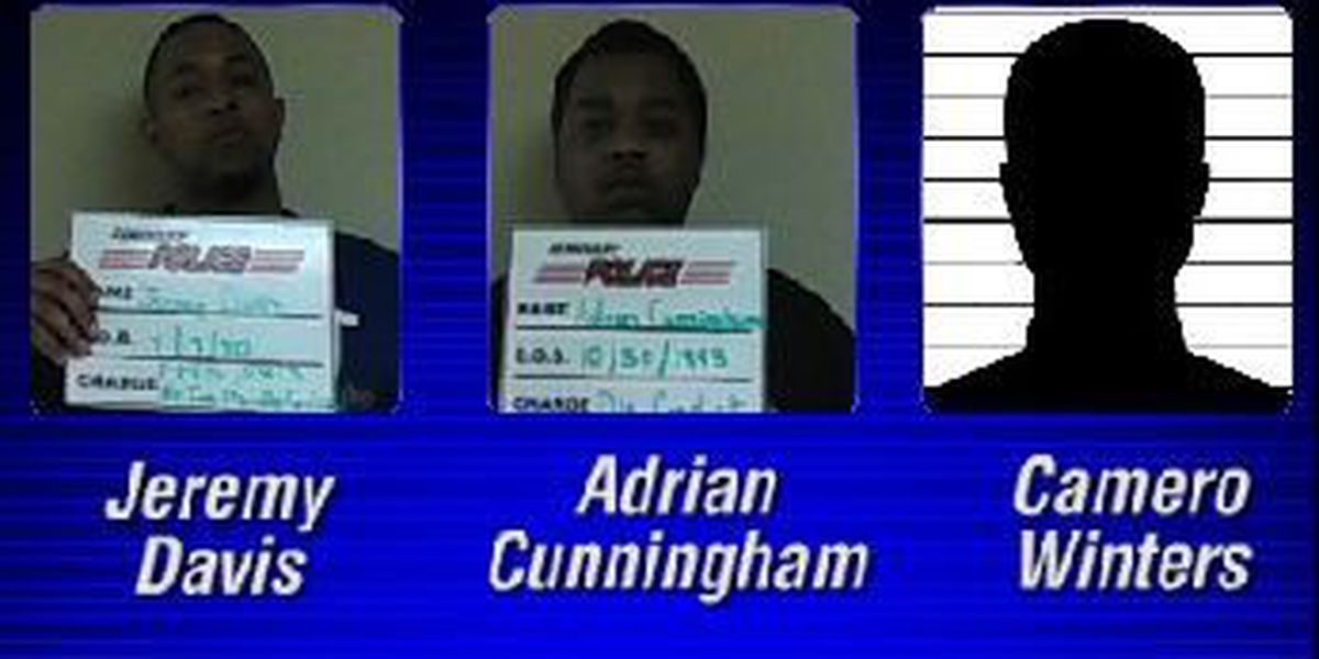 Three Gulfport men arrested, charged for leading police on chase near Seminary