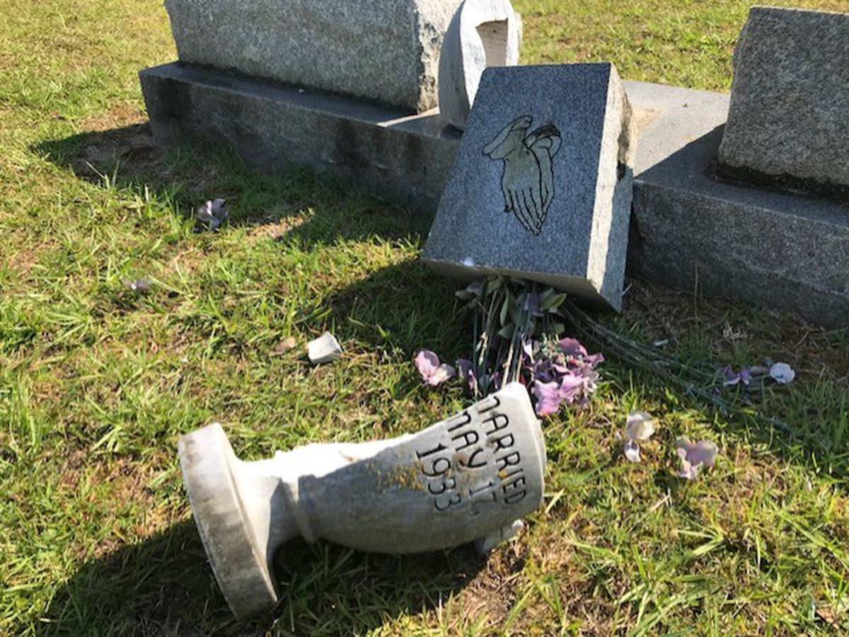 Vandals strike Miss. cemetery; police looking for culprits