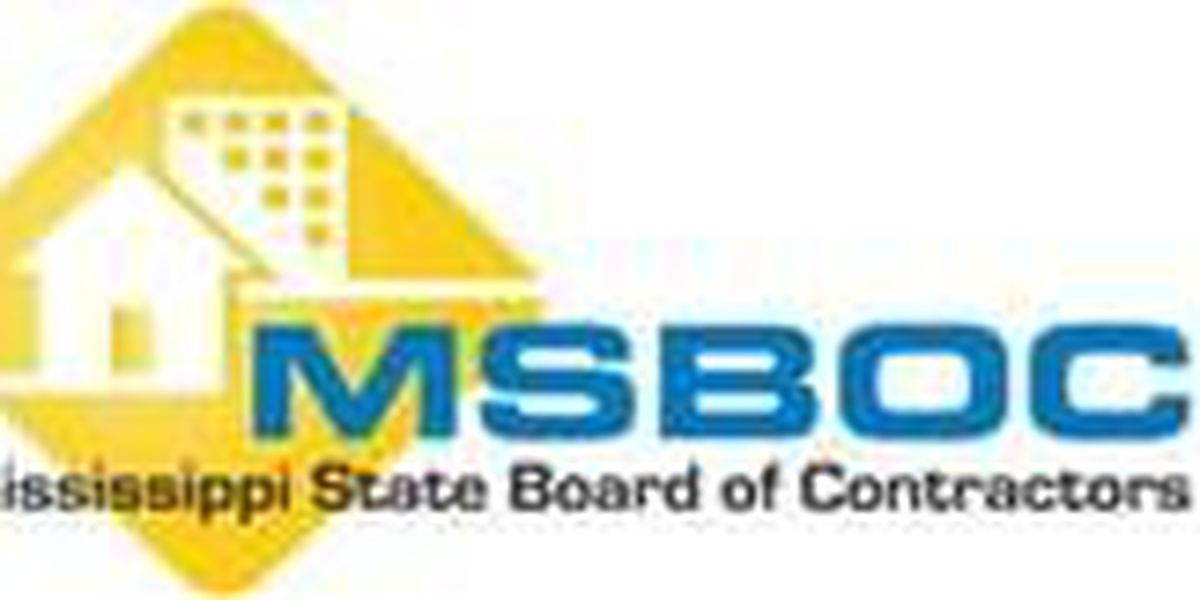 MSBOC warns of unlicensed contractors operating in state