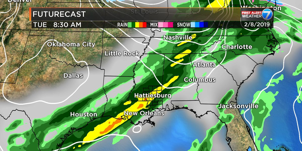 FIRST ALERT: Early forecast guidance suggests storms next Tuesday