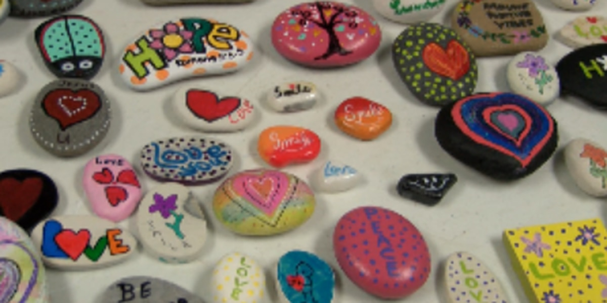 Hattiesburg group spreads kindness one painted rock at a time