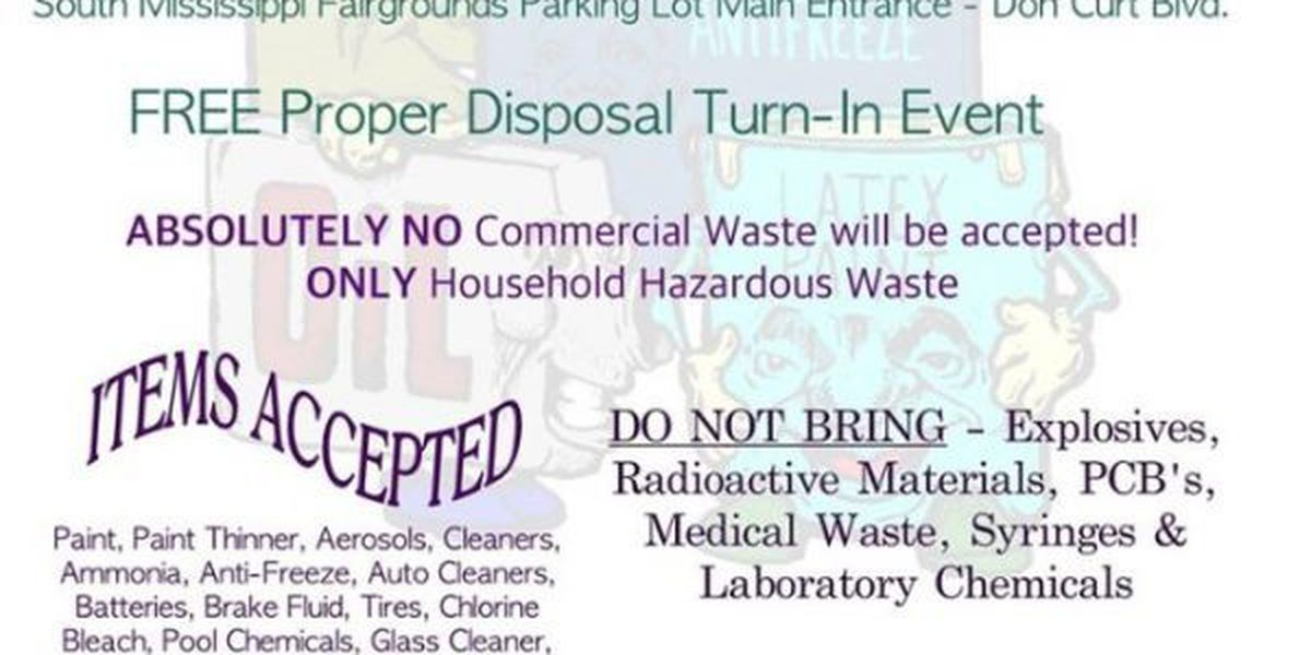 Jones County officials sponsoring hazardous waste collection day