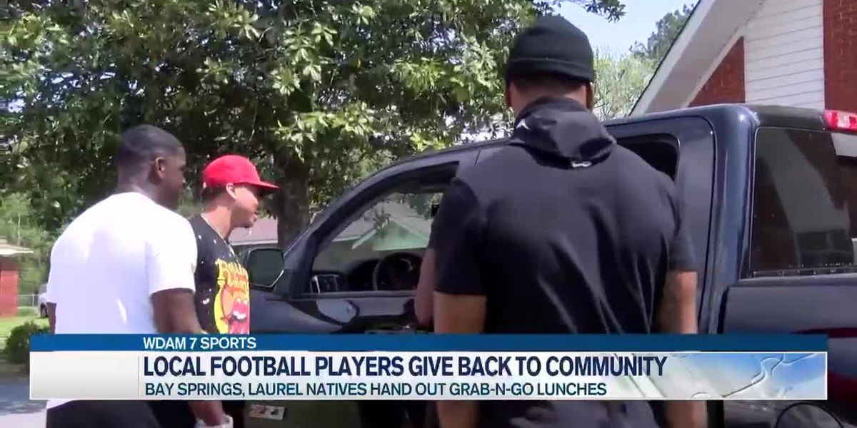 Local football players give back to the community