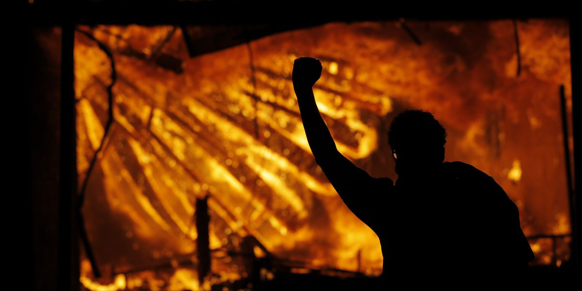 Minneapolis police station torched amid George Floyd protest