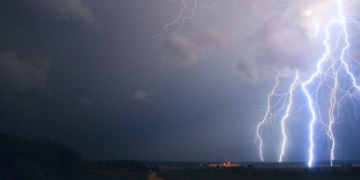 Woman indirectly struck by lightning