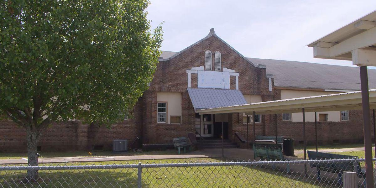 Old Ellisville Elementary School building undergoing renovations for alternative school