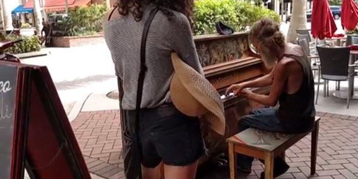 VIDEO: Homeless man plays piano beautifully
