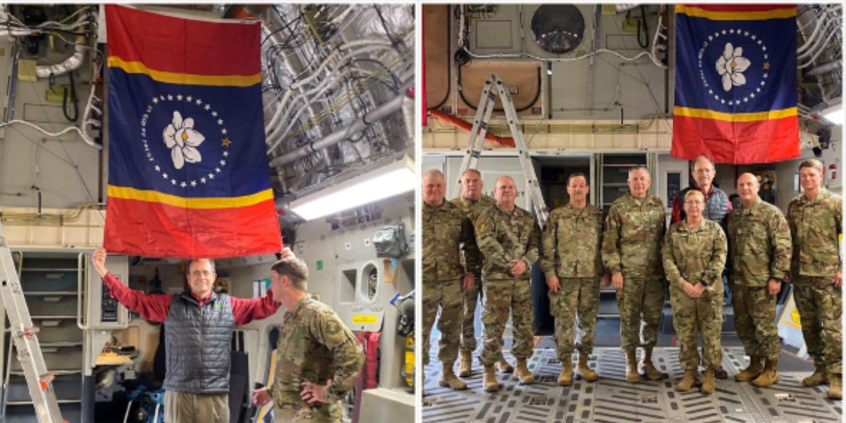 Mississippi's Air National Guard receive 9 new state flags