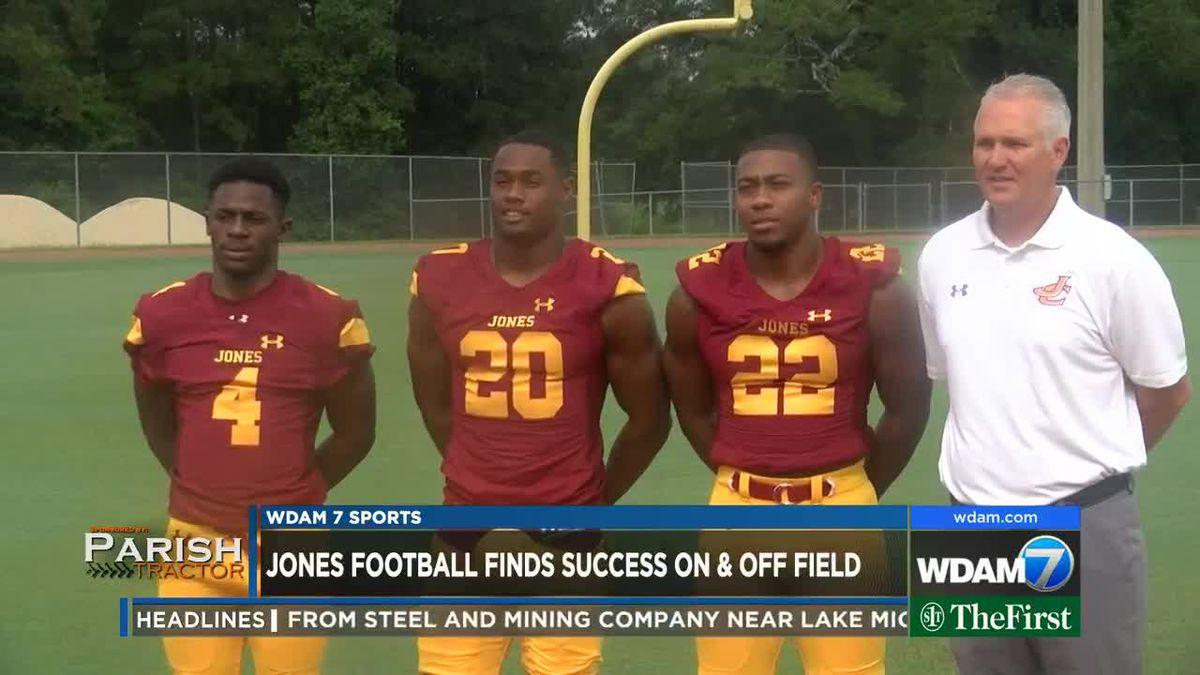 Jones football building championship program on and off field