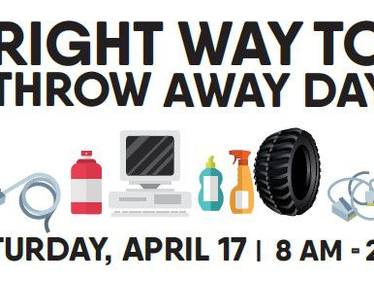 'Right Way To Throw Away Day' set for Forrest, Lamar counties