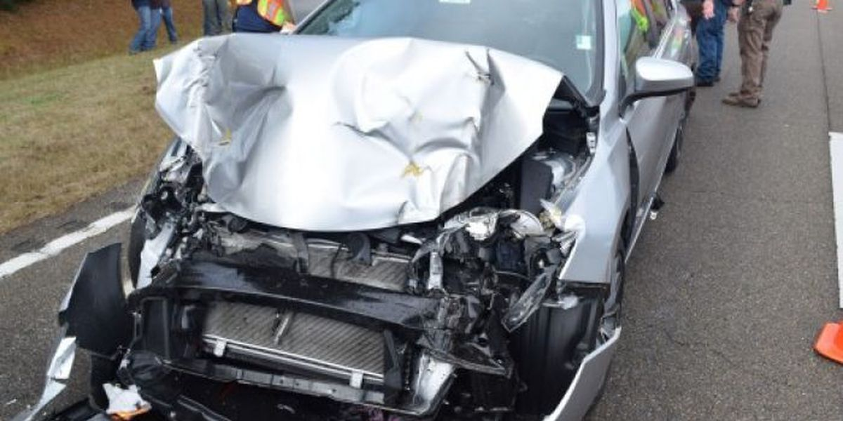 Traffic slowed due to two-vehicle accident