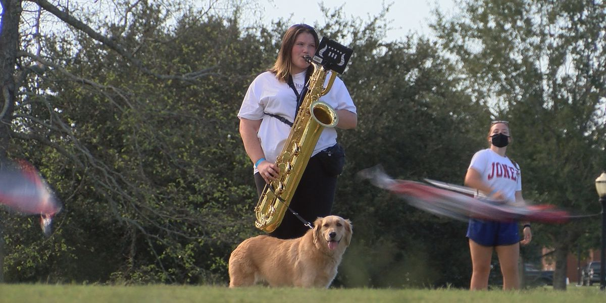 JC Maroon Typhoon Marching Band welcomes first service dog member